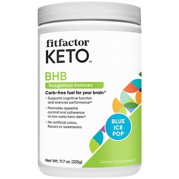 Fitfactor KETO BHB Exogenous Ketones Carb-free - Blue Ice Pop 11.7oz 30 Servings