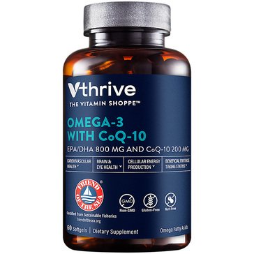Vthrive Omega-3 with CoQ-10 800MG EPA/DHA 60 Softgels