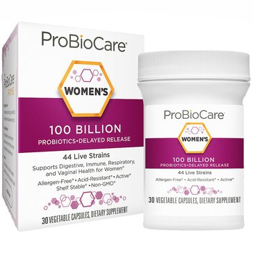 ProBioCare Probiotic for Women 100 Billion CFUs 30 Vegetable Capsules