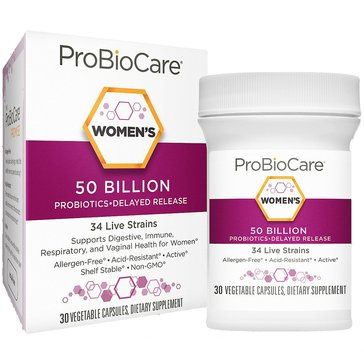 ProBioCare Probiotic for Women 50 Billion CFUs 30 Vegetable Capsules