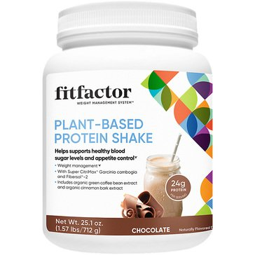 Fitfactor Plant-Based Protein Shake - Chocolate 1.57lbs 16 Servings