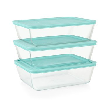 Pyrex Simply Store 6-Piece 11-Cup Meal Plan Set