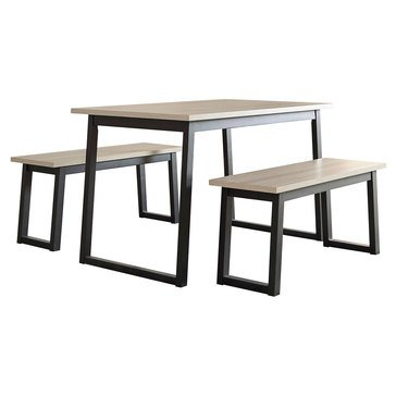 Signature Design by Ashley Waylowe Rectangular Dining Room Table 3-Piece Set
