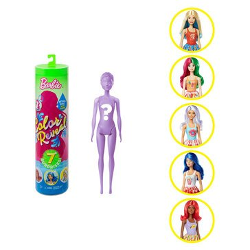 Barbie 7 Exciting Mystery Surprise Color Reveal Doll