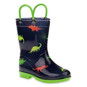 Rugged Bear Toddler Boys' Dinosaur Rainboot