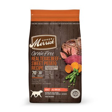 Merrick Grain Free Real Texas Beef & Sweet Potato Adult Dog Food