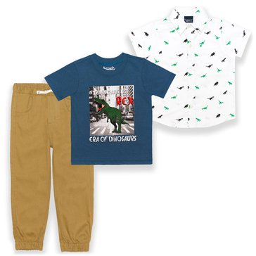 Liberty & Valor Toddler Boys' 3-Piece Tee & Pants Set
