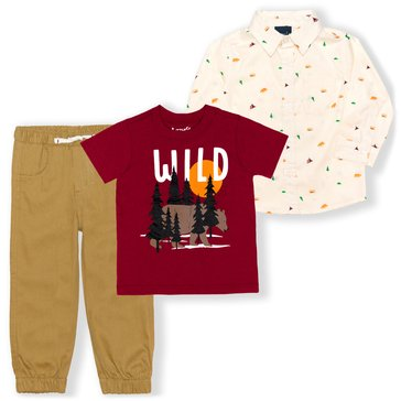 Liberty & Valor Toddler Boys' 3-Piece Long Sleeve & Pants Set