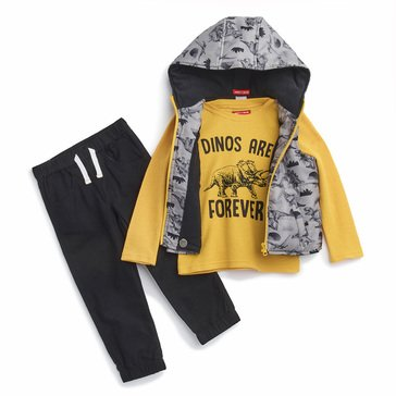 Liberty & Valor Toddler Boys' 3pc Long Sleeve Woven Vest Pant Set