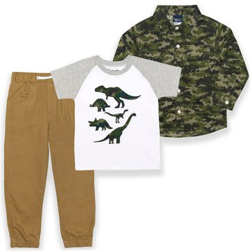 Liberty & Valor Boys' 3-Piece Long Sleeve Shirt & Pants Set