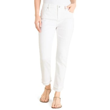 Chico's Women's Stacked Fray Girlfriend Jeans