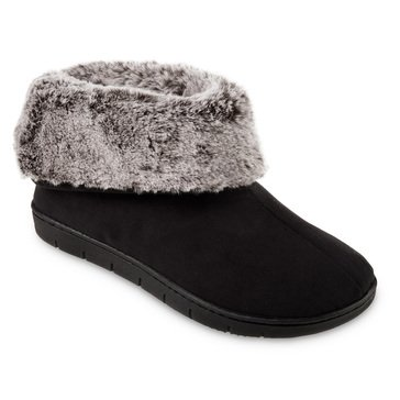 Totes Women's Recycled Microsuede and Fur Boot