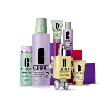 Clinque 3-Step I/II Dramatically Different Moisturizing Lotion -Great Skin Anywhere Set