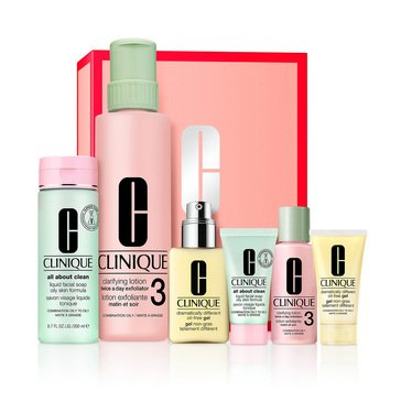Clinque 3-Step III/IV Dramatically Different Oil Control Gel -Great Skin Anywhere Set