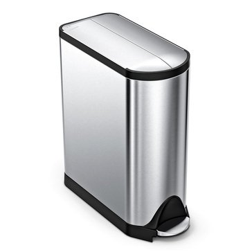 SIMPLEHUMAN 45L Butterfly Brushed Stainless Steel Step Can, K Liner