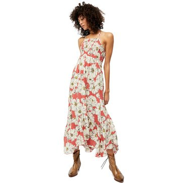 Free People Womens Floral Maxi Dress