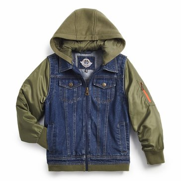 Urban Republic Boys' 5 Pocket Denim Jacket
