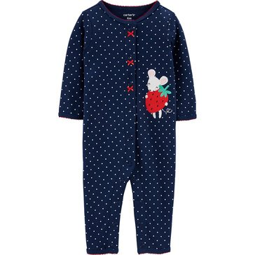 Carter's Baby Girls' Long Sleeve Footless Sleep and Play