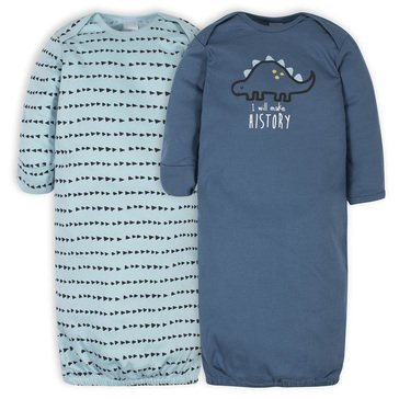 Gerber Baby Boy Gown 2 Pack