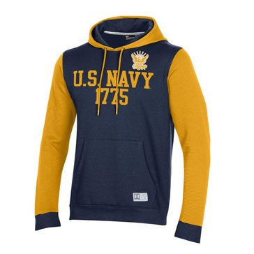 UA Mens U.S. Navy 1775 / Eagle Gameday Terrain Rib Hood