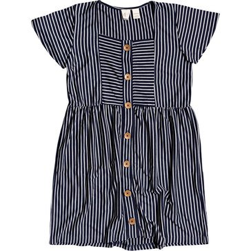 ROXY Big Girls' How Long Button Up Striped Dress