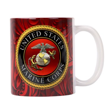Vanguard USMC Flag 15oz Ceramic Mug
