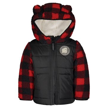 London Fog Baby Boy Sherpa Jacket/Pongee Vest