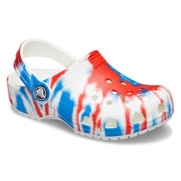 Crocs Toddler Girls' Classic Tie Dye Clog