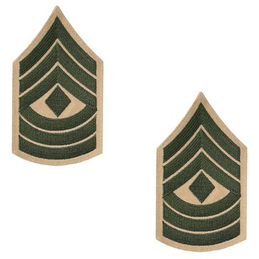 USMC Women's Chevron Green on Khaki 1ST SGT