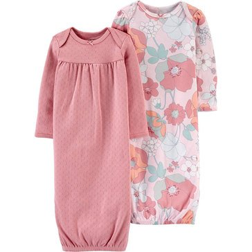 Carters Little Baby Basics Girl 2 Pack Gown