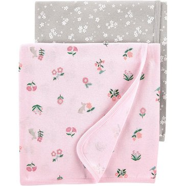 Carters Little Baby Basics Girl 2 Pack Blanket