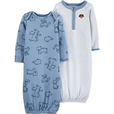 Carters Little Baby Basics Boy 2 Pack Gown