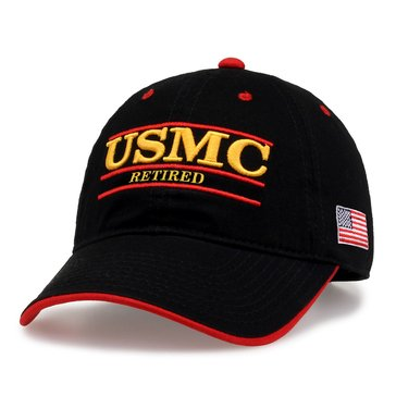 The Game TG Unisex USMC Retired Bar W/ Flag Side EDGA Back Cap