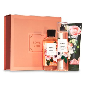 Bath & Body Works Holiday Full Size Trio Easel Box Rose