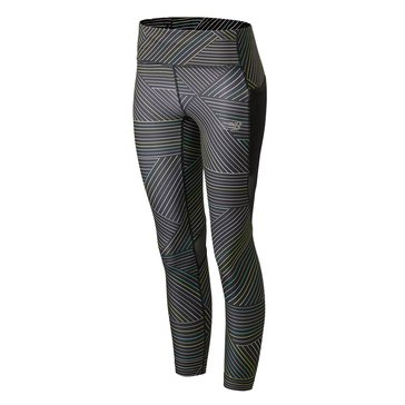 New Balance Women's Printed Impact Run Crop Leggings