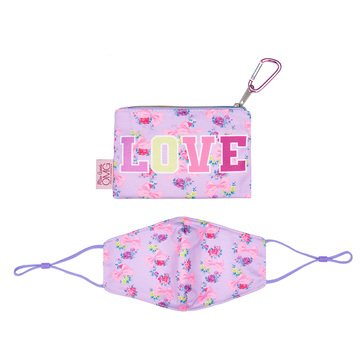 Floral Love Printed Face Mask/Pouch Set