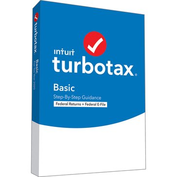 Intuit Turbotax Basic 2020 Federal Only (Federal E-File)