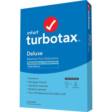 Intuit Turbotax Deluxe 2020 Federal & State (Federal E-File)