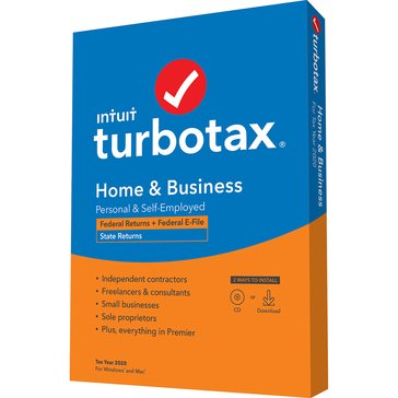Intuit Turbotax Home & Business 2020 Federal & State (Federal E-File)