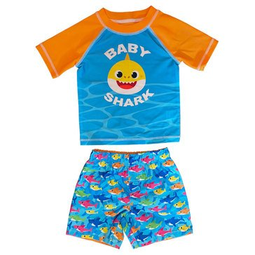 Dreamwave Baby Boys' Licensed Swim 2-Piece Rashguard Set