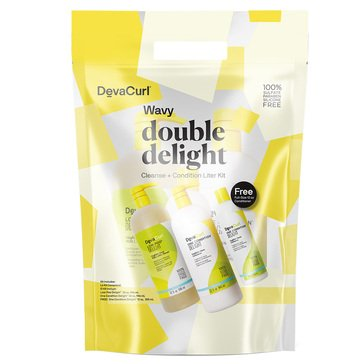 Deva Curl Wavy Double Delight Cleanse/Condition Liter Kit