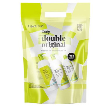 Deva Curl Curly Double Original Cleanse /Condition Liter Kit