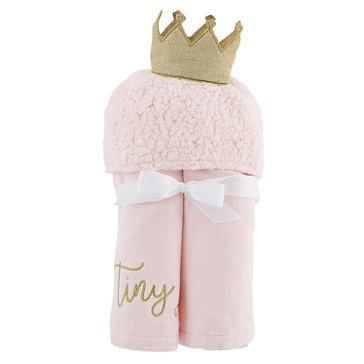 Mud Pie Baby Girl Princess Hooded Towel