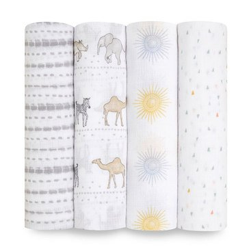 Aden Anais Sunshine Swaddles 4 Pack