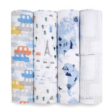 Aden Anais Little Big World Swaddles 4 Pack