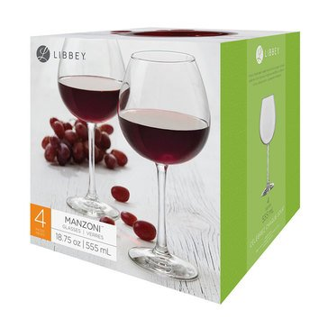 Libbey Manzoni 18.75oz Red Wine Glasses Set of 4