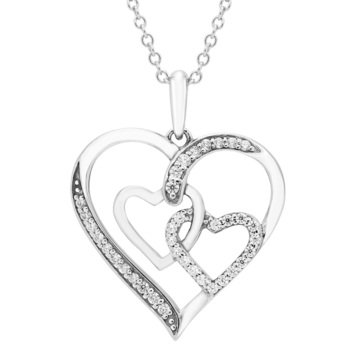 Sterling Silver 1/5 ct Heart Pendant