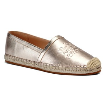 Coach Women's Charlie Metallic Leather Espadrille