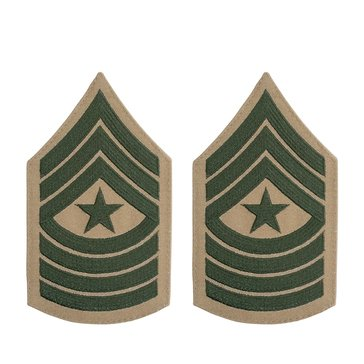 USMC Women's Chevron Green on Khaki SGTMAJ