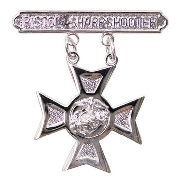 USMC Breast Badge Pistol Sharpshooter